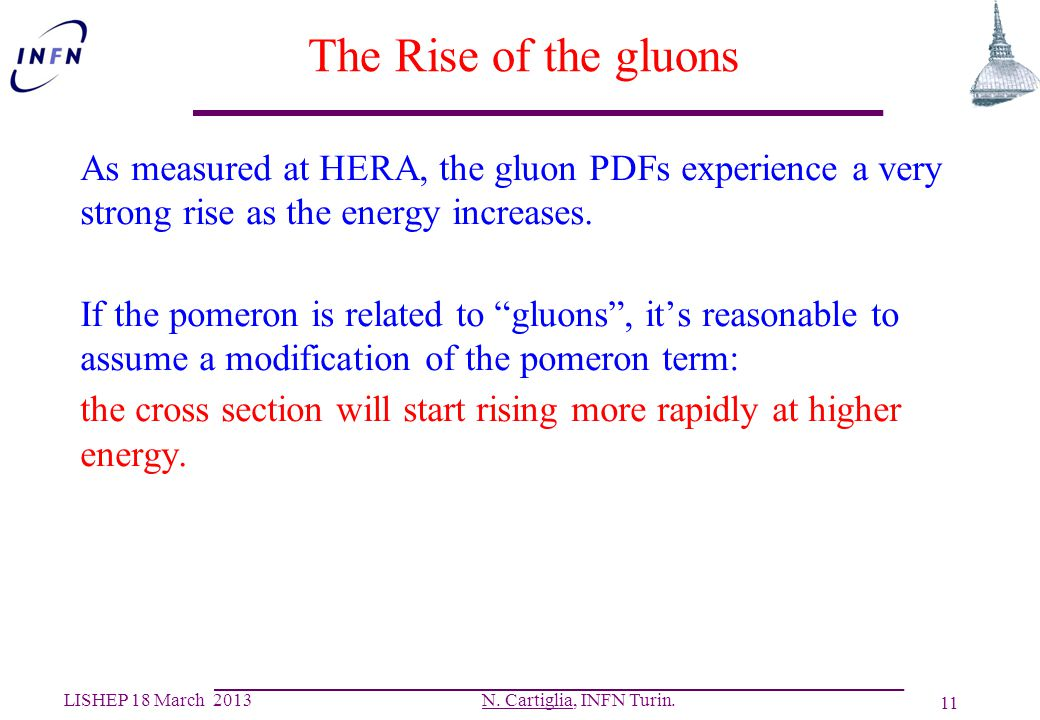 The Rise of the gluons