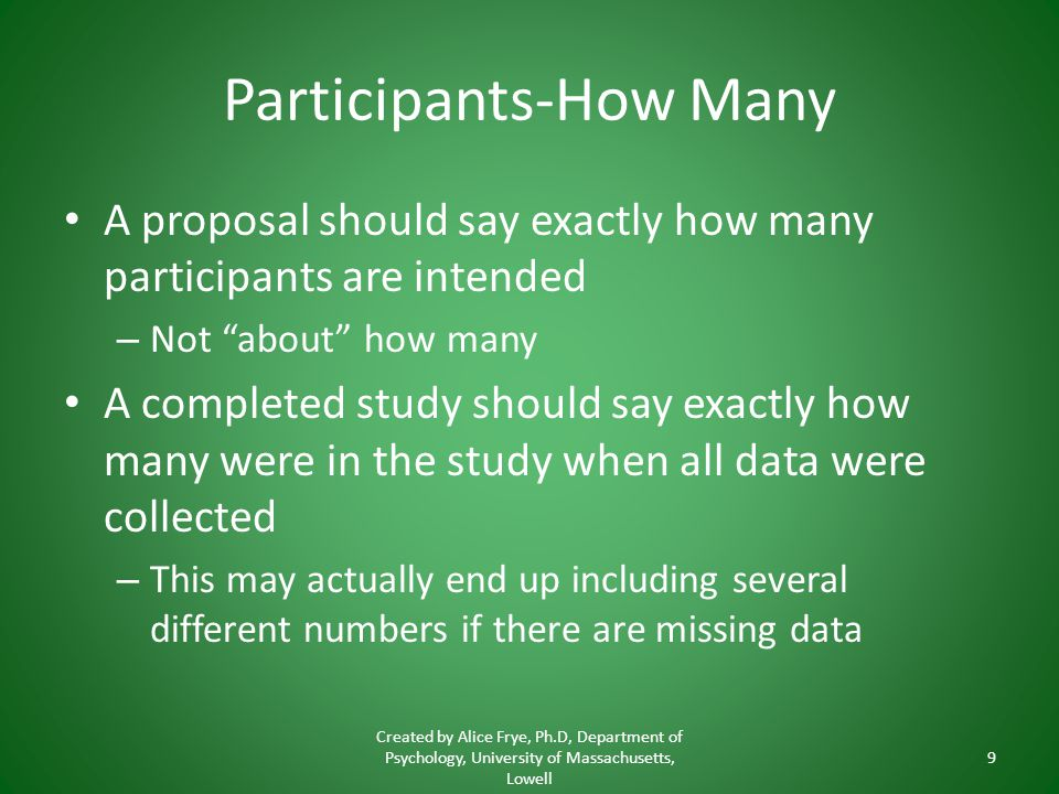 Participants-How Many