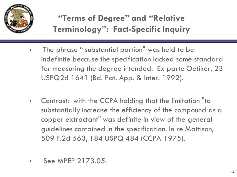 Terms of Degree and Relative Terminology : Fact-Specific Inquiry