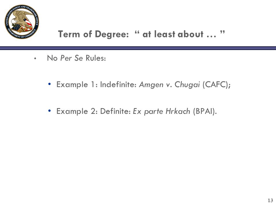 Term of Degree: at least about …