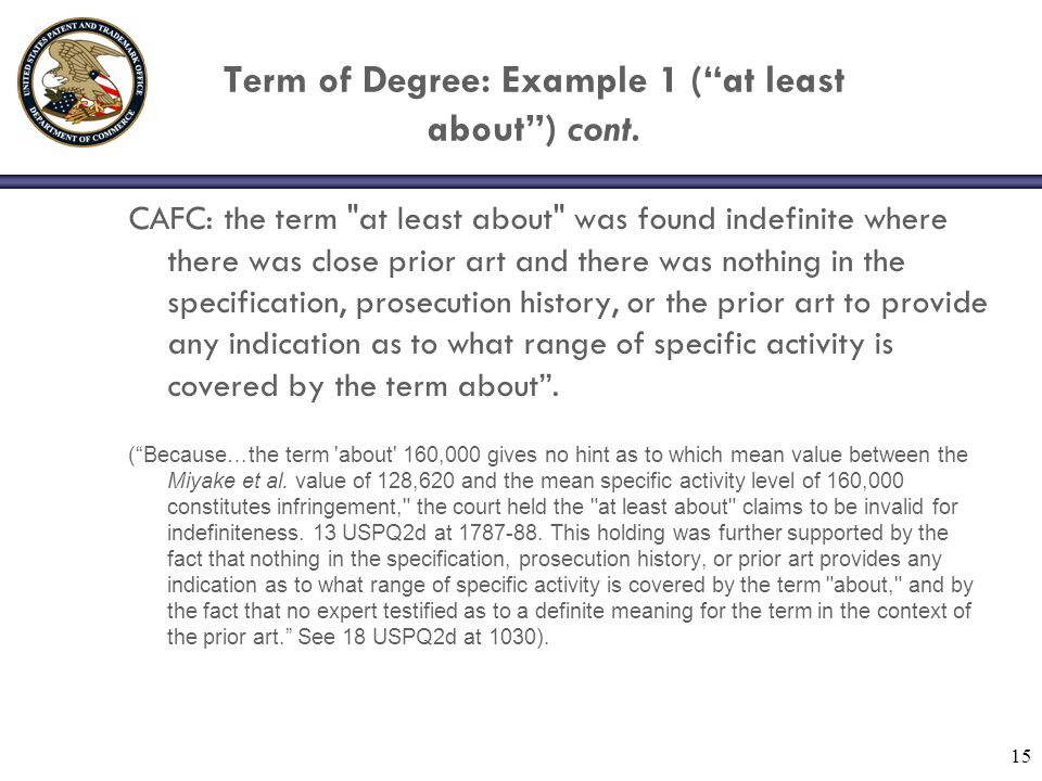 Term of Degree: Example 1 ( at least about ) cont.
