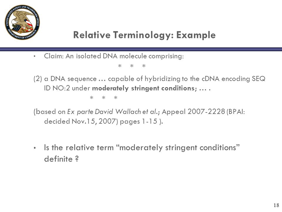 Relative Terminology: Example
