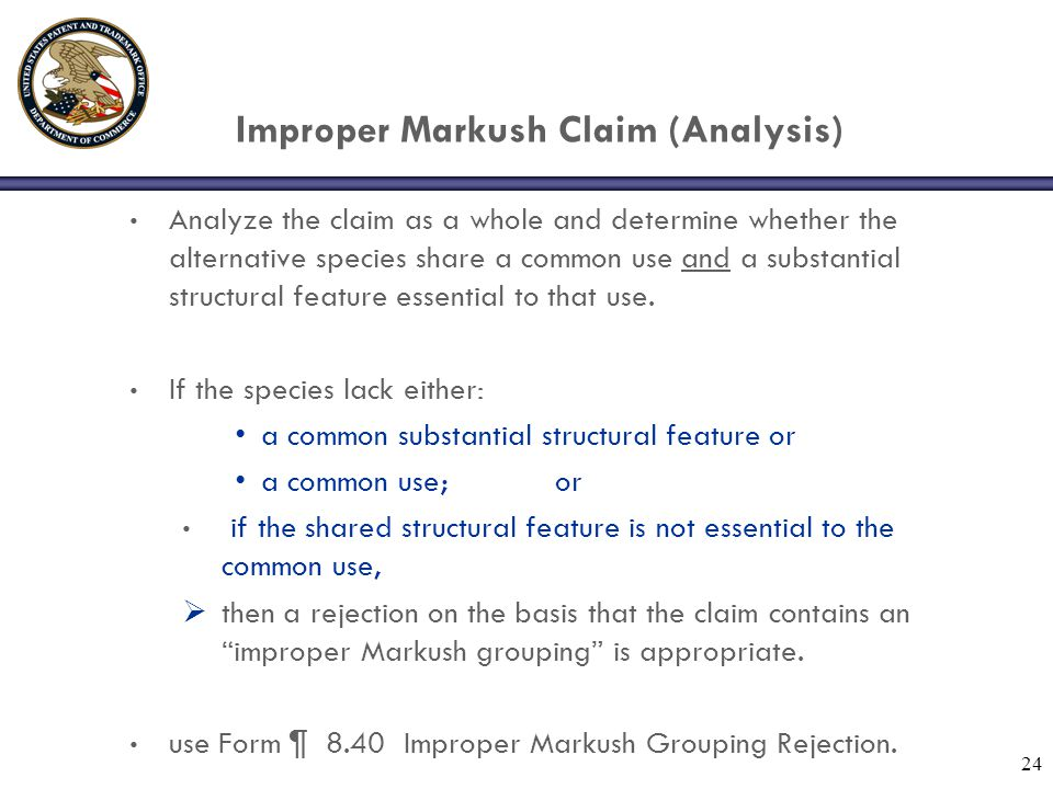 Improper Markush Claim (Analysis)