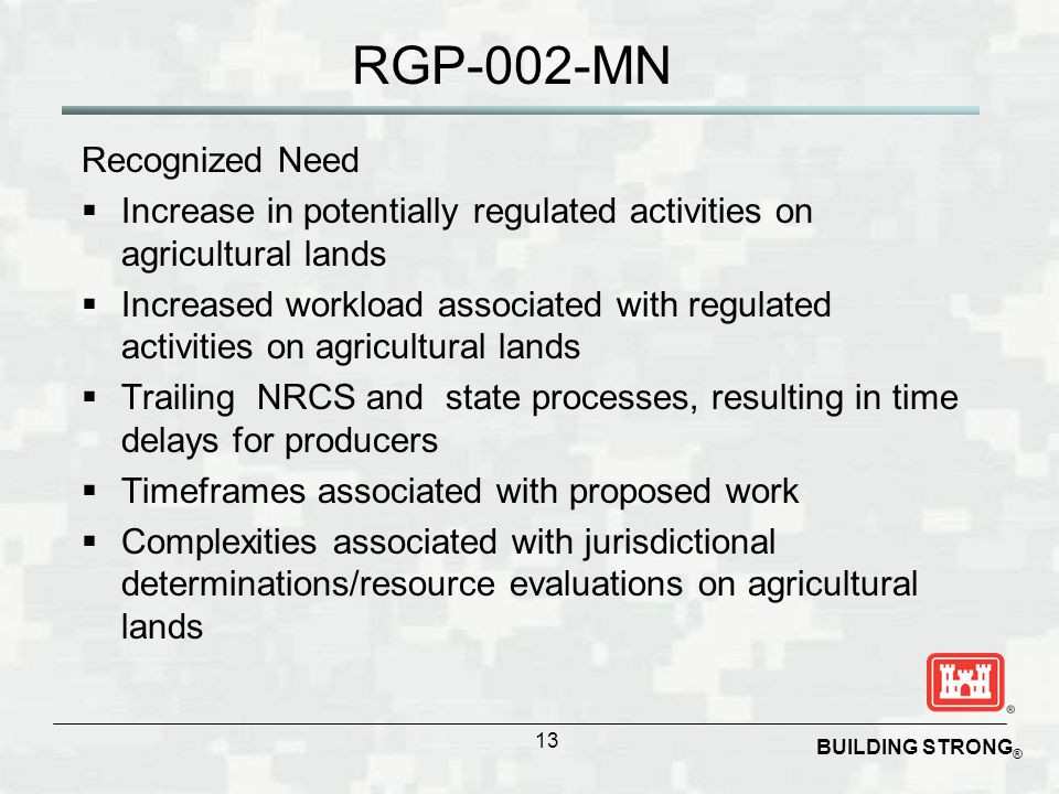 RGP-002-MN Recognized Need