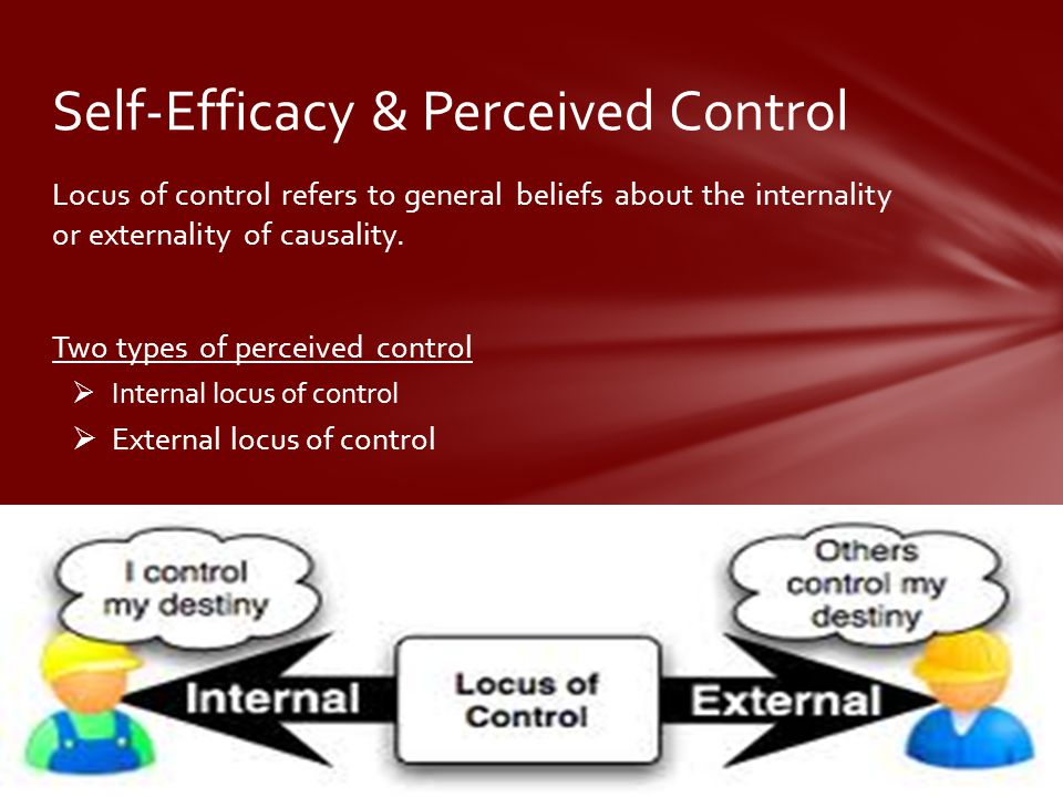 Self-Efficacy & Perceived Control
