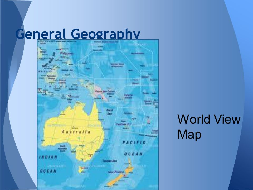General Geography World View Map