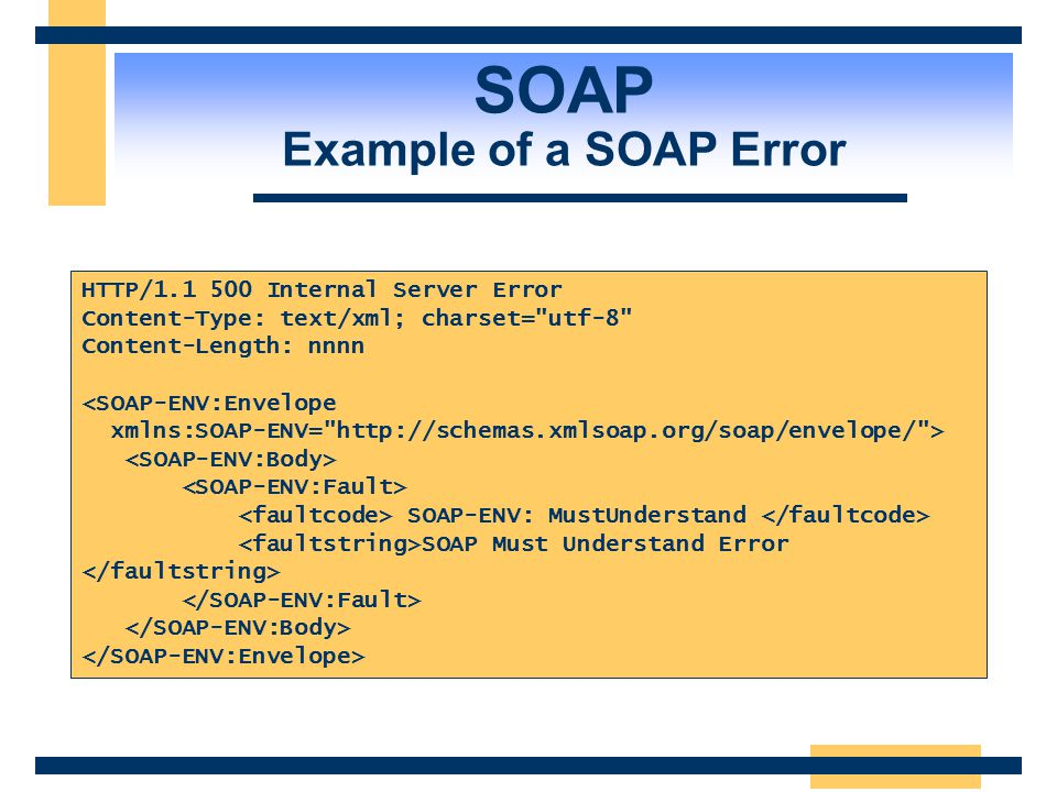SOAP Example of a SOAP Error