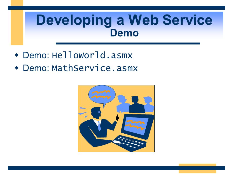 Developing a Web Service Demo