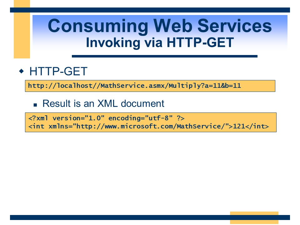 Consuming Web Services Invoking via HTTP-GET