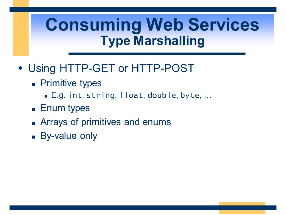 Consuming Web Services Type Marshalling