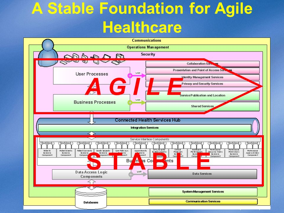 A Stable Foundation for Agile Healthcare