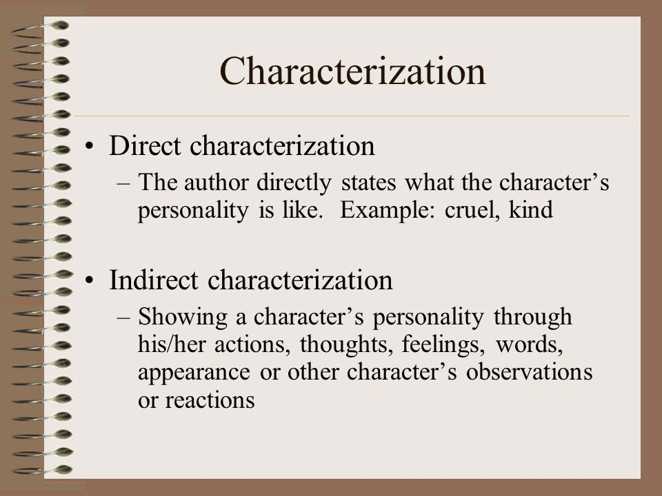 direct characterization and indirect characterization