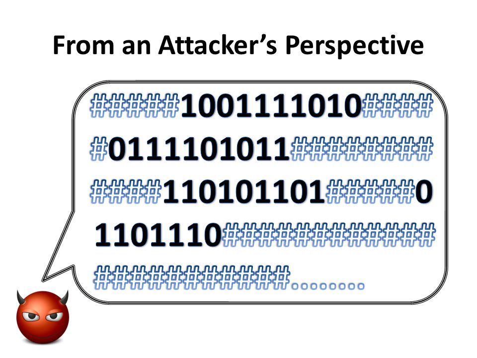 From an Attacker's Perspective