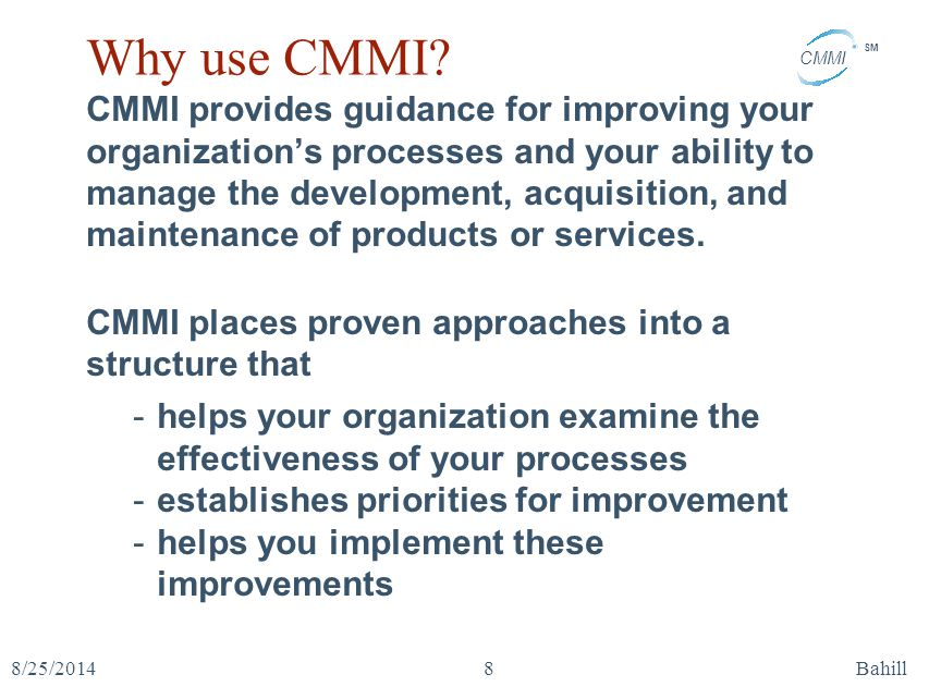 Why use CMMI