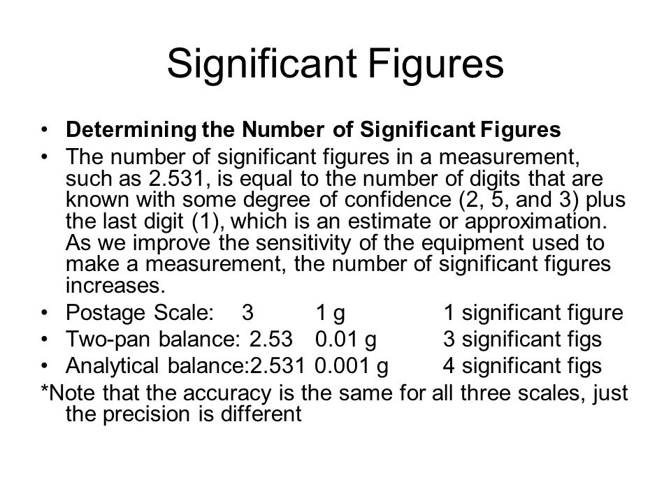 Significant Figures Determining the Number of Significant Figures