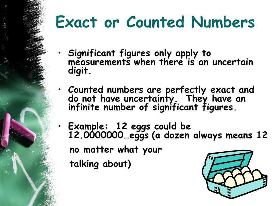 Exact or Counted Numbers