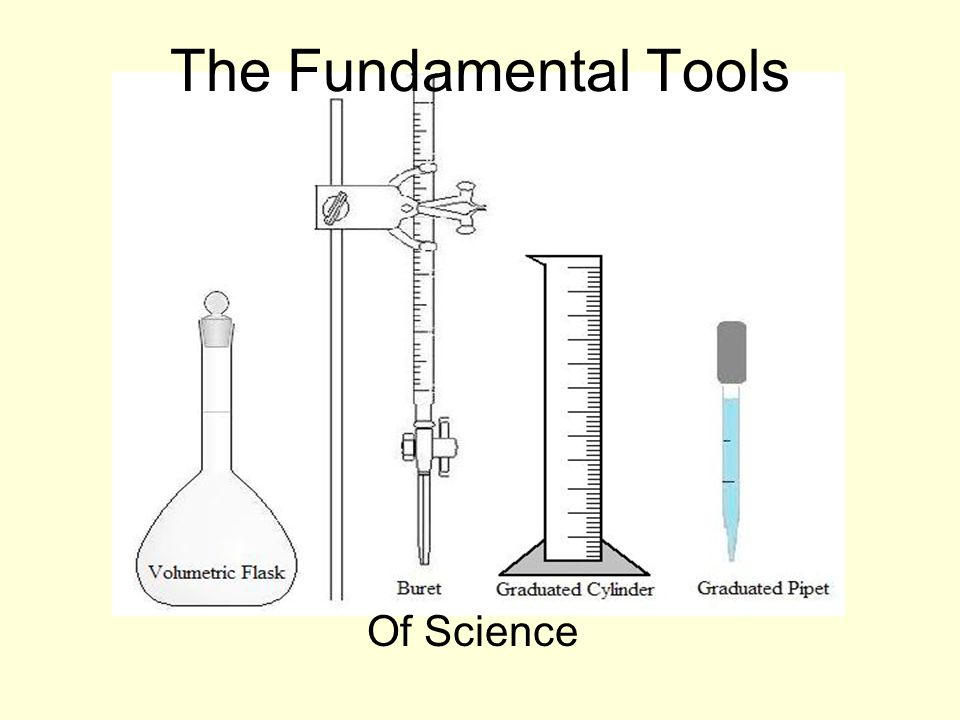 The Fundamental Tools Of Science