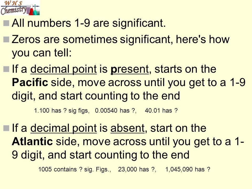 All numbers 1-9 are significant.