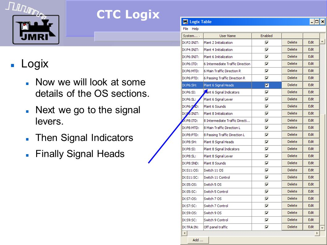 CTC Logix Logix Now we will look at some details of the OS sections.