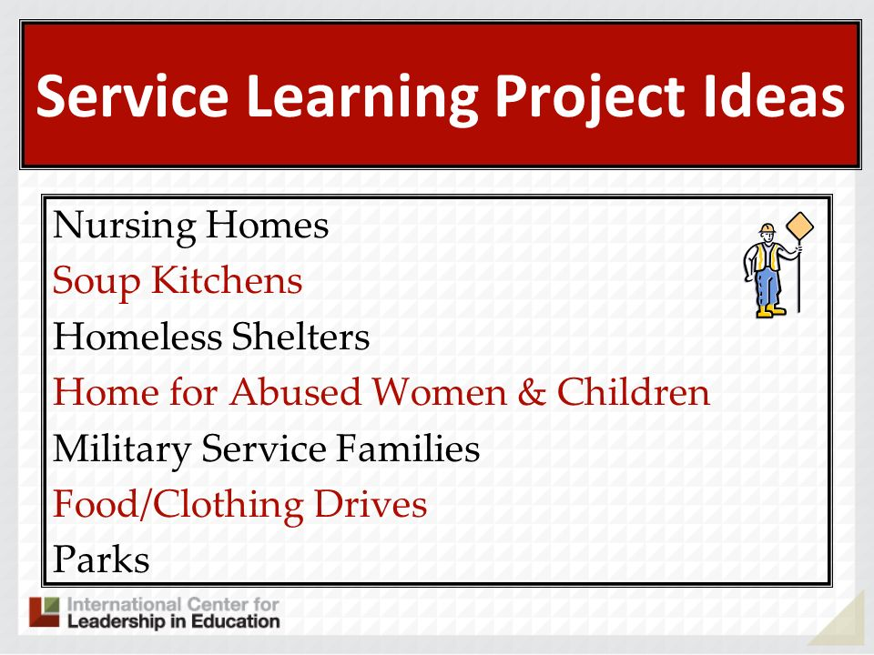 Service Learning Project Ideas