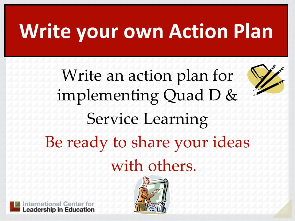 Write your own Action Plan