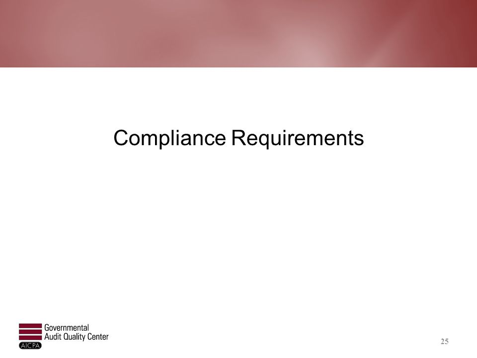 All Compliance Requirements
