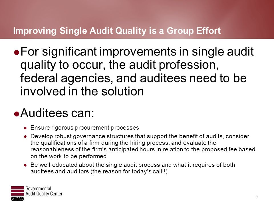 Quality Concerns Not Just an Auditor Issue
