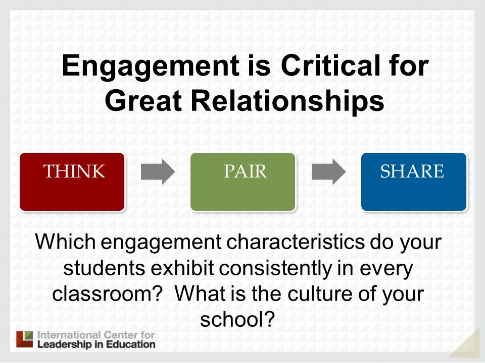 Engagement is Critical for Great Relationships