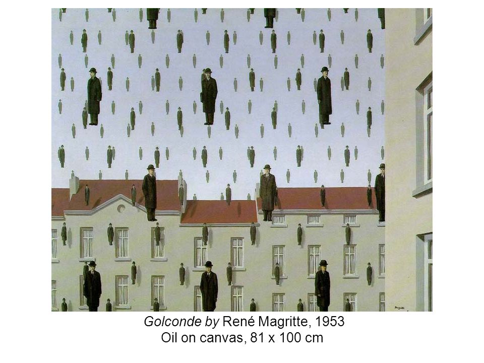 Golconde by René Magritte, 1953