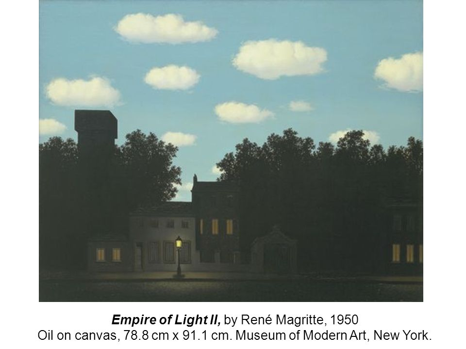 Empire of Light II, by René Magritte, 1950