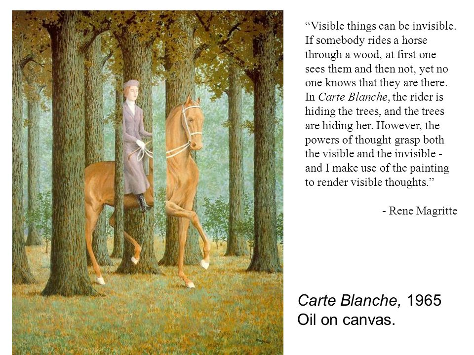 Carte Blanche, 1965 Oil on canvas.