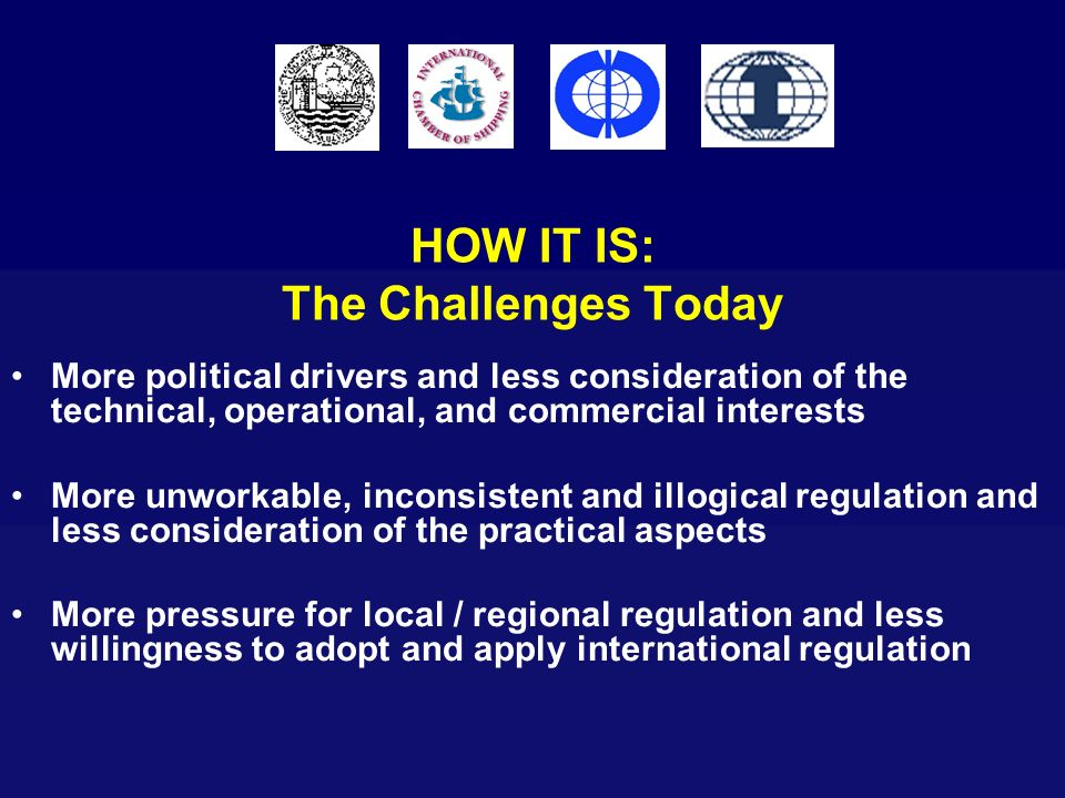 HOW IT IS: The Challenges Today