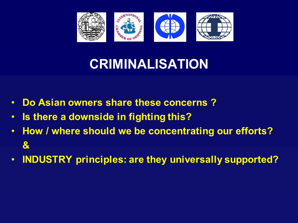 CRIMINALISATION Do Asian owners share these concerns