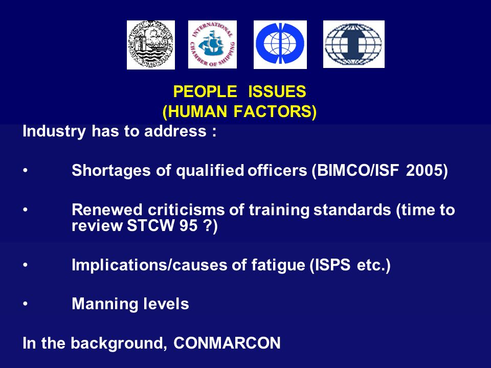 PEOPLE ISSUES (HUMAN FACTORS)