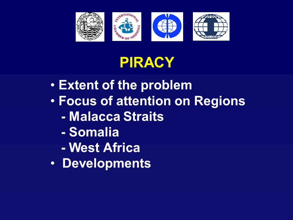 PIRACY Extent of the problem Focus of attention on Regions