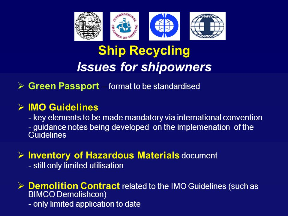 Ship Recycling Issues for shipowners