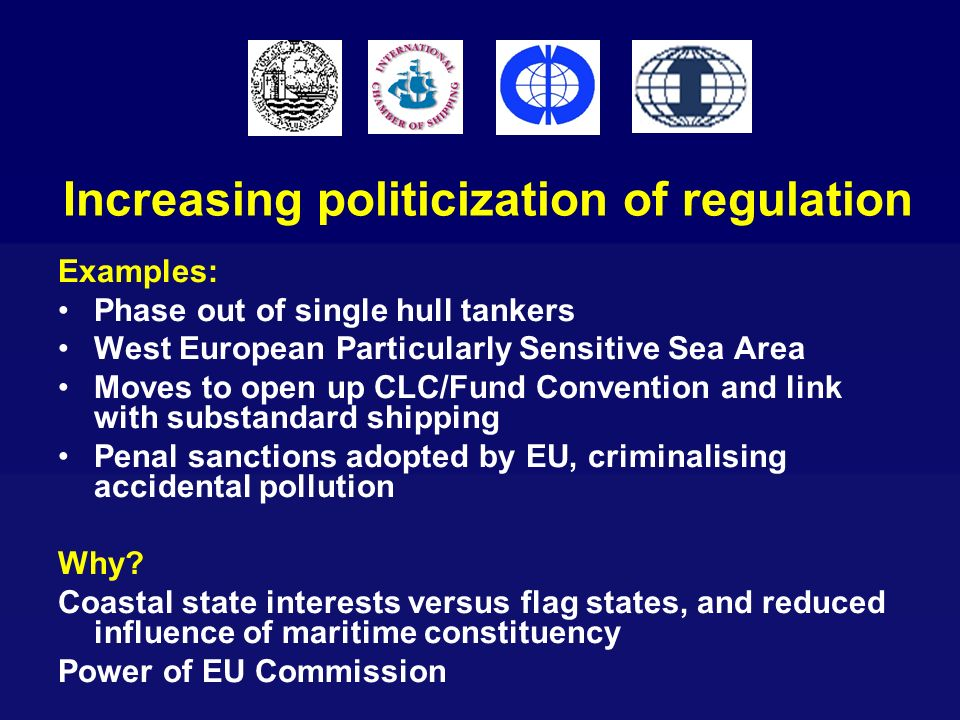 Increasing politicization of regulation