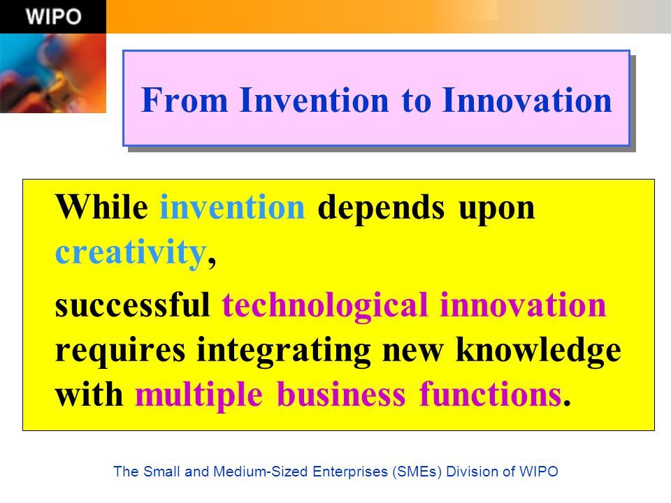 From Invention to Innovation