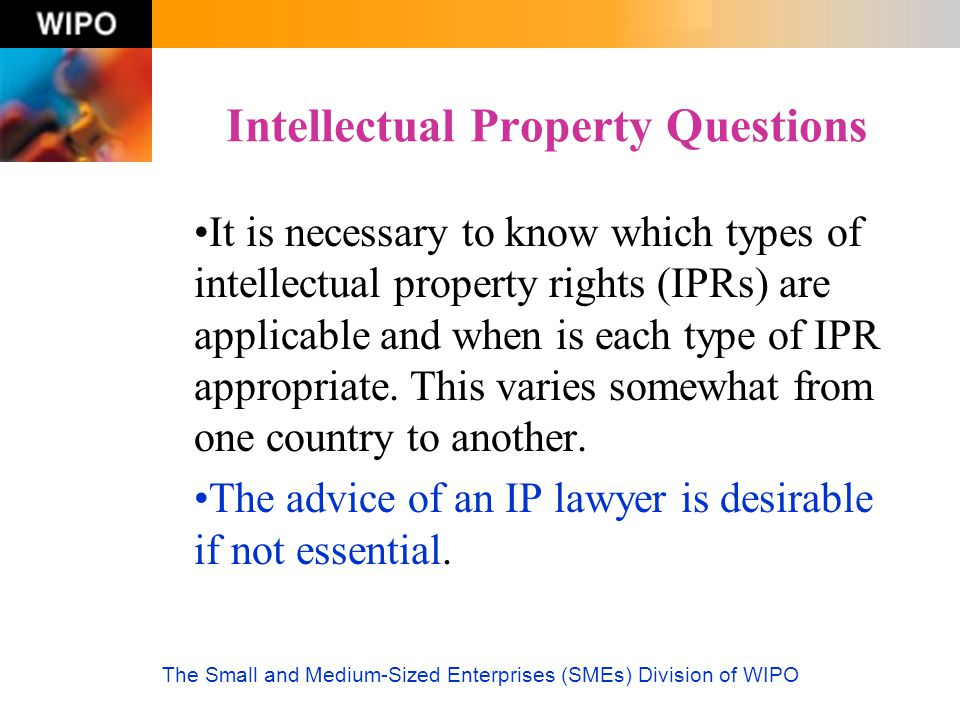 Intellectual Property Questions