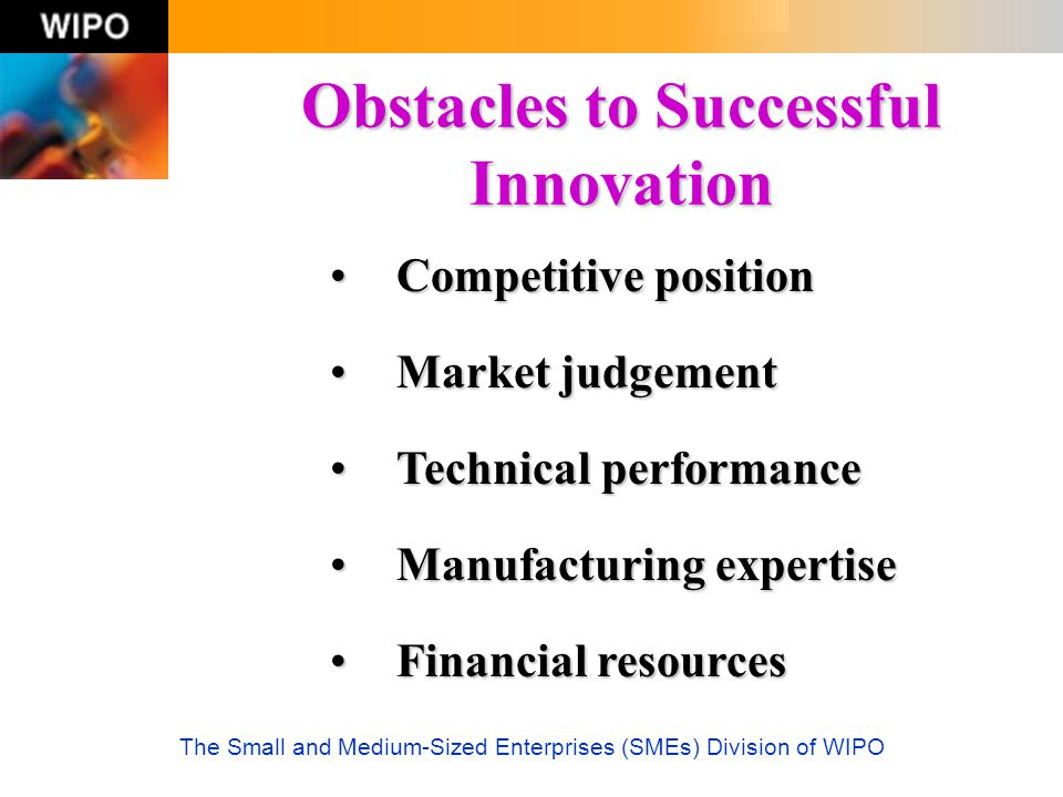 Obstacles to Successful Innovation