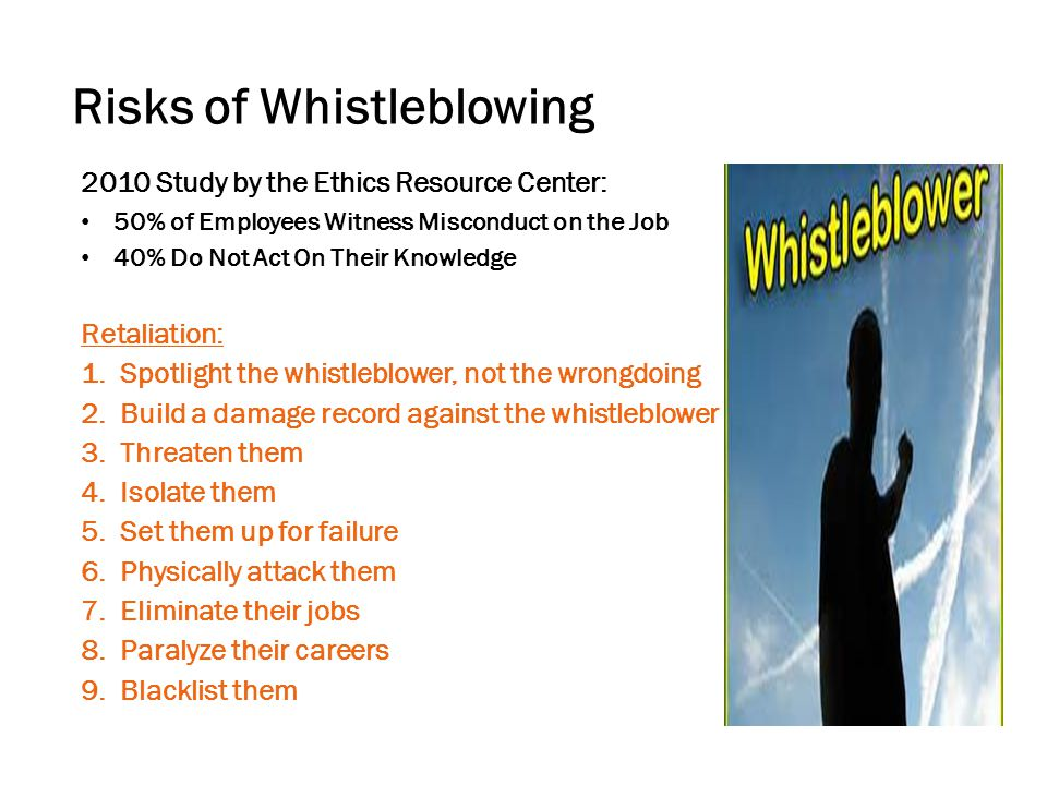 Risks of Whistleblowing