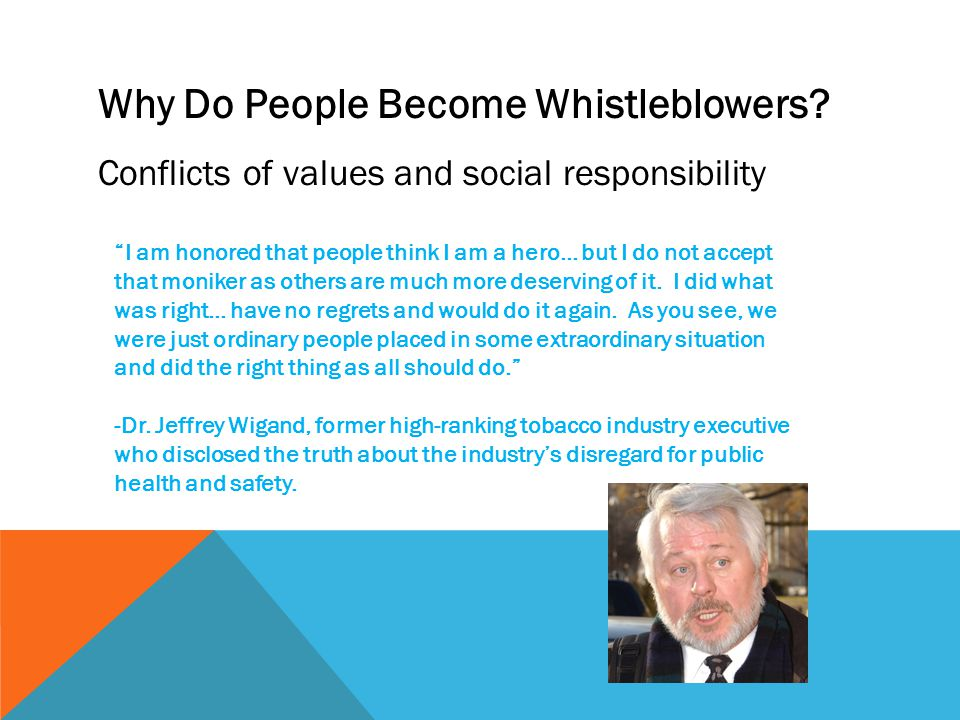 Why Do People Become Whistleblowers