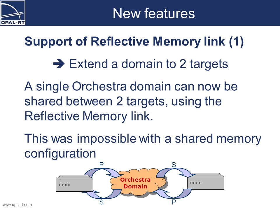 New features Support of Reflective Memory link (1)