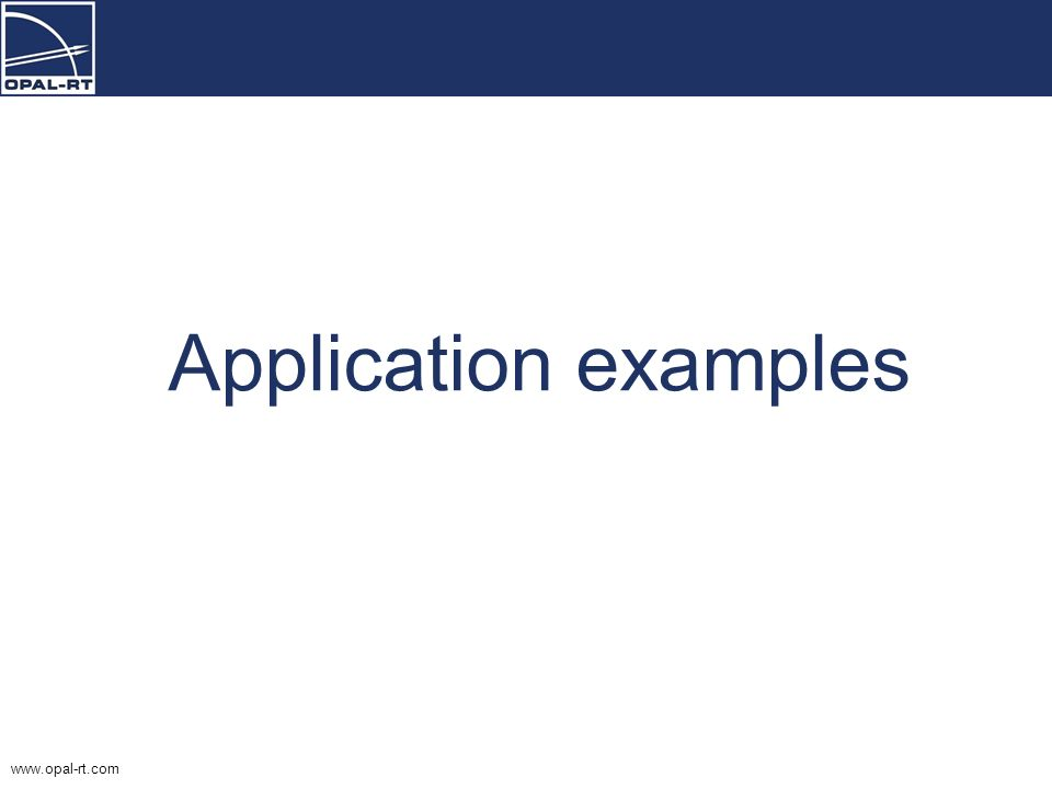 Application examples