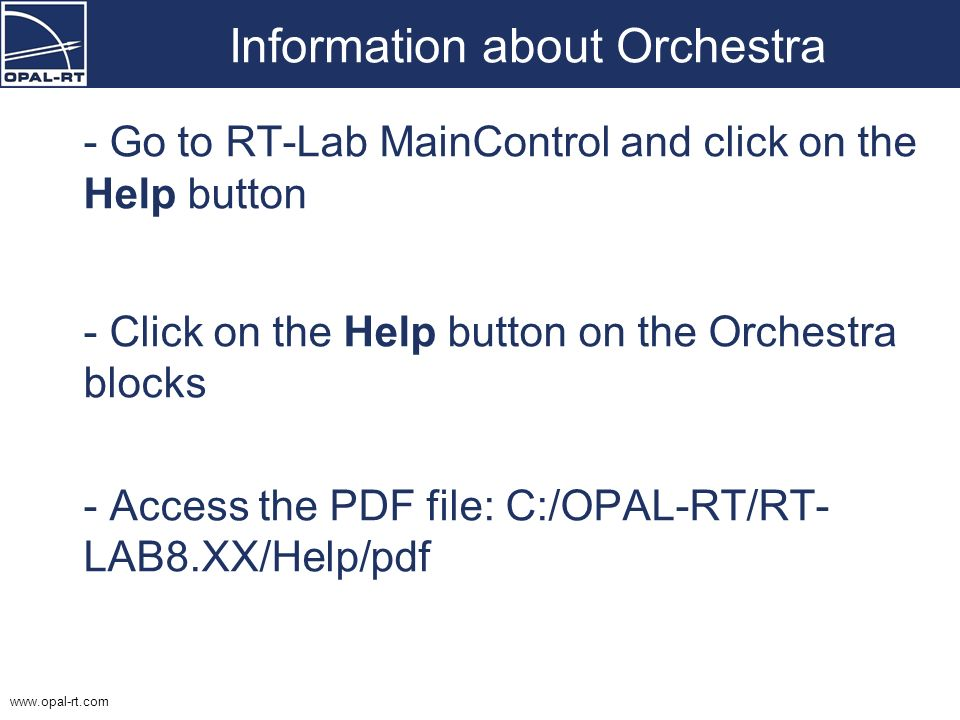 Information about Orchestra