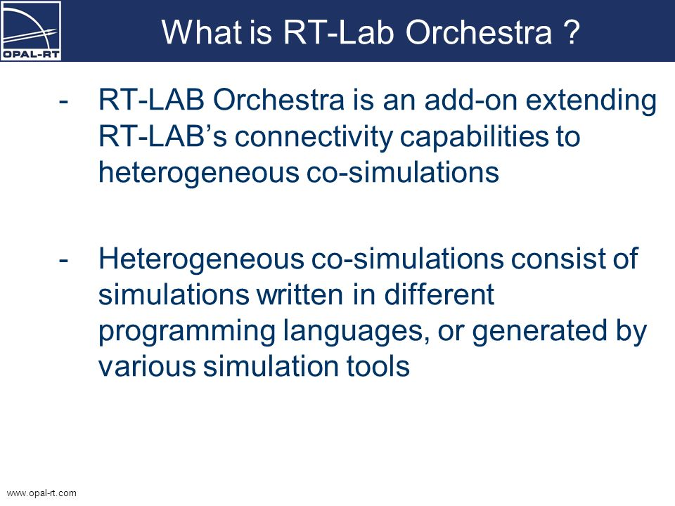 What is RT-Lab Orchestra