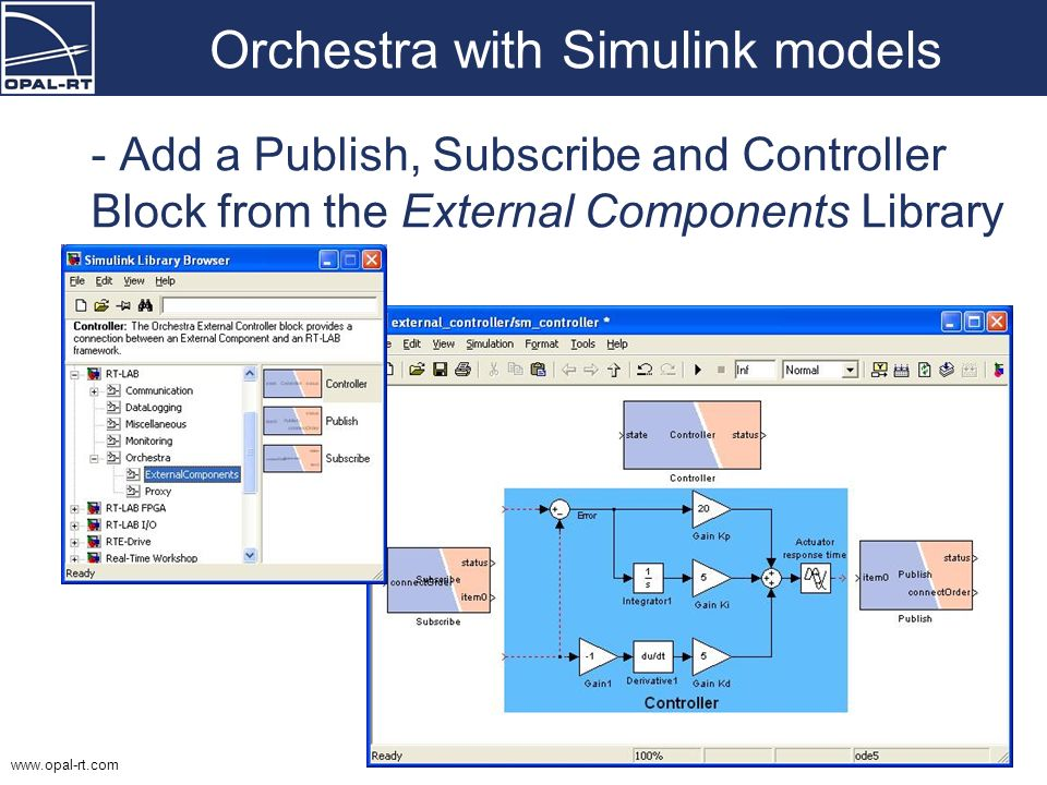 Orchestra with Simulink models