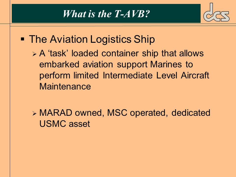 The Aviation Logistics Ship