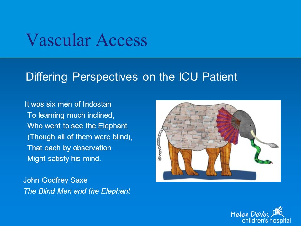Vascular Access Differing Perspectives on the ICU Patient