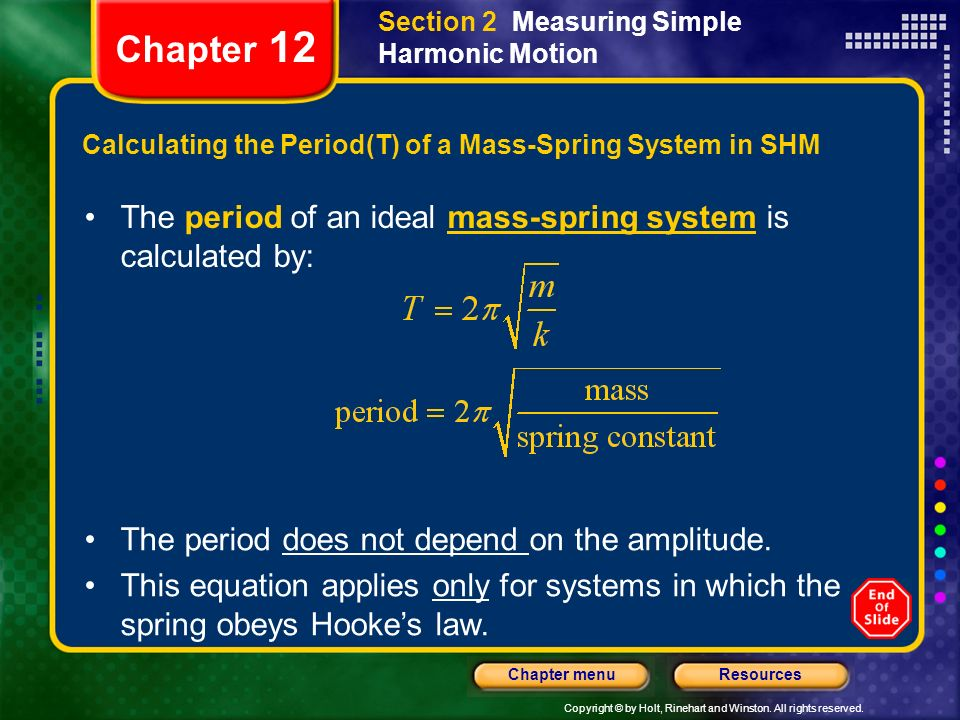 Calculating the Period(T) of a Mass-Spring System in SHM